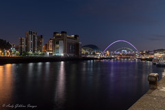Newcastle Quayside (ADG IMAGES) Tags: newcastle gateshead rivers riverside tyne milleniumbridge cityscape longexposure reflections nightscape nikon d5500 northeast northernuk