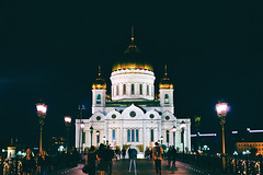 The Cathedral of Christ the Saviour at night (yenpojack) Tags: cathedral church russia russian orthodox moscow    moskvariver  archeitecture sony zeiss 55mm fe55 a7rm2