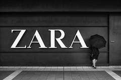 ZARA with ! (ajpscs) Tags: ajpscs japan nippon  japanese  tokyo kinshicho  nikon d750 shitamachi monochromatic grayscale monokuro blackwhite blkwht bw blancoynegro streetphotography zara zarawith