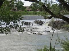 The falls in Idaho Falls, Idaho (try saying that fast five times) #7 (jimsawthat) Tags: urban idahofalls idaho river snakeriver hydroelectricity waterfall natural manmade