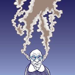 Quit smoking (Don Moyer) Tags: smoke face drawing ink moleskine notebook moyer donmoyer brushpen