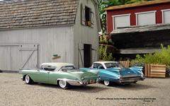 1957 Cadillac Eldorado Seville Hardtop - 1959 Cadillac Coupe deVille Hardtop (JCarnutz) Tags: 124scale diecast danburymint 1957 1959 cadillac eldorado seville coupedeville