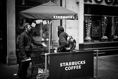 Hassle (stephen cosh) Tags: 50mmaposummicron blackandwhite candid glasgow leicamonochromtyp246 people scotland stephencosh street streetphotography