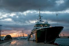 Sunrise in a port (Natalia Bolshakova) Tags: port ship ships sunrise cargo sea sicily trapani