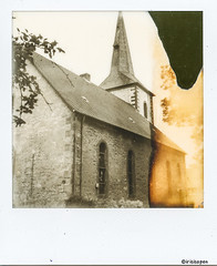 Dorfkirche # 050 # Polaroid SX70 folding Impossible SX70 BW - 2015 (irisisopen f/8light) Tags: polaroid sx70 impossible analog sofort instant irisisopen