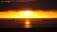 Opposite directions. (northernkite) Tags: north sea sunrise aberdeen scotland ships outdoors canon eos 1100d