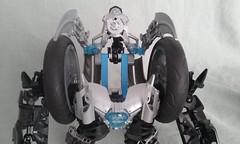 Bruizor (ohlookitsanartist) Tags: lego moc own creation bohrok bionicle kal bruizor boxor exo arms legs mecha mech strong blades armor silver steel metal metallic black blue krana