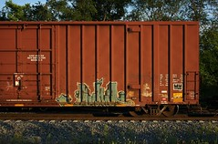 Worm (quiet-silence) Tags: graffiti graff freight fr8 train railroad railcar art worms a2m boxcar tr tr19618