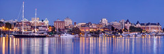 Victoria Harbour Blue Hour (Patrick Lundgren) Tags: victoria bc british columbia canada vancouver island pnw pacific northwest skyline city water harbour blue hour sunset long exposure harbor tall ship boat reflection empress hotel tourist travel photography canon sigma panorama sky lights buildings cityscape