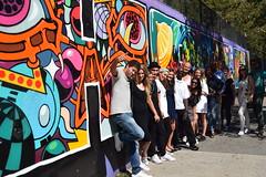 Sept 17 2016 #HushTours e (Hush NYC Hip Hop Tours) Tags: thebronx hiphoptours hushtoursgrandmastercaz tatscru graffiti wall fame