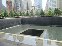 World Trade Center Memorial Fountains 2016 NYC 4358 (Brechtbug) Tags: 911 memorial fountain lower manhattan 2016 nyc footprint world trade center wtc ground zero september 11 2001 downtown new york city 2011 fdny public monument art fountains 08272016 foot print freedom tower today west skyscraper building buildings towers reflection pool water falls waterfalls wall walls pools tier tiered 15 years fifteen five