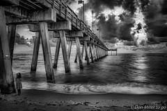 On the Edge (DonMiller_ToGo) Tags: beachlife blackandwhitephotography hdrphotography pier blackwhite d5500 longexposure hdr 3xp sharkyspier onawalk blackandwhite outdoors bwphotography bw florida beachphotography sky