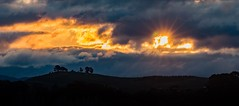 dramatic skies over Canberra (Jerry Skinner) Tags: panorama australian dark dramatic clouds golden canberra skies sunset sillouette fire