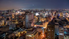 Buenos Aires, aerial view (karinavera) Tags: travel nikond5300 aerial argentina urban view longexposure city night cityscape buenosaires