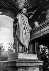 Jesus (Florian Christoph) Tags: berlin cemetery jesus god religion black white bw fine art