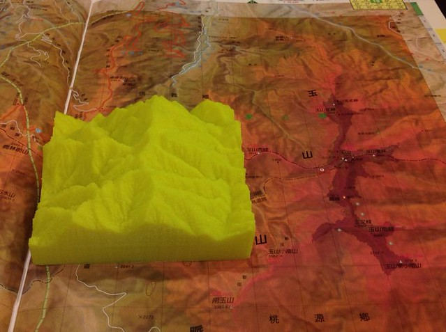 玉山群峰模型
