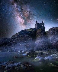 'Cliffs of Peril' - Dunskey Castle, Portpatrick (Gavin Hardcastle - Fototripper) Tags: scotland castle haunted milky way astrophotography photoshop compositing composite stars nightscapes coast coastline coastal danger cliffs scottish dunskey portpatrick gavinhardcastle fototripper