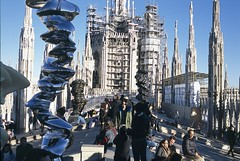 Milan, Italy (The Old Pharaoh) Tags: milan itlay duomo architecture modernart marble building sculpture film slide scan reversalfilm transparency catherdral analoguephotography milano italia ornament analogue roof decoration