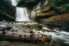 Looking Glass Falls in Pisgah National Forest (bradleysiefert) Tags: appalachianmountains ashevillearea formatthitechfilters lookingglassfalls northcarolina pisgahnationalforest forest longexposure rainy stateforest waterfall wet
