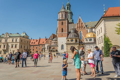courtyard (stevefge) Tags: krakow poland castle wawel courtyard squares people candid family children kinderen kids mother tower reflectyourworld