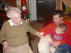 Leo and Grammy with Sal