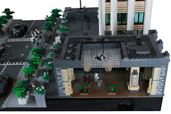 Operation Big Apple: Grey Stone Building Backview (Andreas) Tags: city lego military darkwater diorama thepurge thepurgeeu thepurgediorama operationbigapple