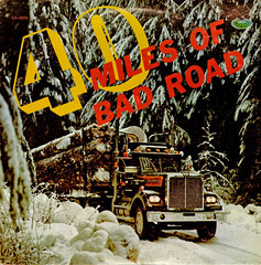 40 Miles Of Bad Road (Jim Ed Blanchard) Tags: road trees red snow truck vintage weird funny martin god brothers trucker album country jimmy bad vinyl logs semi jacket cover ugly lp record miles 40 logger cb sleeve gusto willis kooky sovine