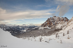 Winter touch (Dora Joey) Tags: light sun white mountain snow clouds landscape nuvole neve sole montagna luce paesaggio dolomites belluno dolomiti passofalzarego