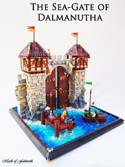 CCCX The Sea-Gate of Dalmanutha (Mark of Falworth) Tags: ocean sea castle wall gate lego medieval lcc cccx loreos