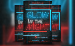 Glow Night PSD Club Party Template (awesomeflyer) Tags: party club photoshop print design flyer nightclub theme psd template resources partyflyer freebies