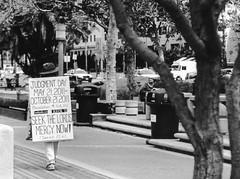 San Diego - Doomsday. (parnas) Tags: california street blackandwhite usa film sandiego zwartwit streetphotography doomsday apocalyps analoog ilforddelta
