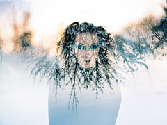 ** (Sandy Phimester) Tags: blue mamiya film ice frost doubleexposure queen twigs medusa