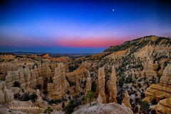 Bryce Moonrise... (Howard Brown Photographic) Tags: park utah canyon national hoodoo bryce