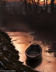 La barca (cesco.pb) Tags: sunset italy canon barca italia tramonto ship lombardia tornavento parcodelticino lonatepozzolo efs55250f456is canoneos1000d