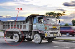 kick ass 10 Wheeler.. Fail or Win? (Rhannel Alaba) Tags: city speed truck nikon philippines srp cebu d90 snapseed