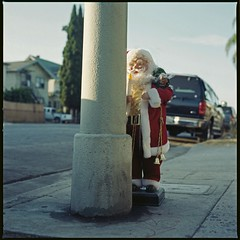 August Santa (repost) (ADMurr) Tags: santa la kodak hasselblad explore pico 100 portra discard repost 80mm 122412