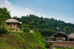 The traditional & Parabolic antennas (doorumie) Tags: new old summer dog love bike puppy relax countryside village traditional worldheritage oldnew yangdong lovetriangle parabolicantenna shadetree
