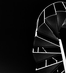Back from the wildernes... (Gremxul) Tags: light sky bw black monochrome lines stairs composition contrast spiral geometry steps shapes angles highcontrast malta minimal explore negativespace minimalism gozo iphone blackwhitephotos iphone4 unusualviewsperspectives iphoneography gremxul
