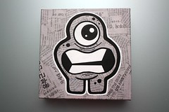 PaperizedCanvas - Go To Korea #1 - 07 (Jepeinsdesaliens) Tags: art lines illustration paper graffiti design sketch newspaper noir drawing korea dessin characters posca poscapens poscaart poscadesign
