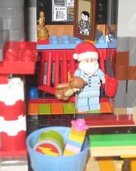 Santa by the Fire (adventuresinlego) Tags: santa holiday lego santaclaus moc santasworkshop legomoc