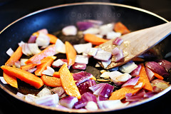 ❃ stir ❃ (ggcphoto) Tags: cooking 35mm garlic carrots veggies stirfry woodenspoon redonions foodphotography sonyalpha gettyimagesirelandq12012