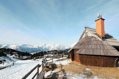 Velika Planina, Slovenia (Crusade.) Tags: mountain snow alps architecture landscape shift slovenia ljubljana tilt julianalps velikaplanina tse17