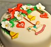 Christmas ornaments cake (Cakes by Sonja) Tags: christmascake richfruitcake