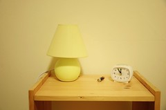 Time's Up! (Tinina67) Tags: life new wood alarm clock lamp up yellow table fun happy still beige year joy health wishes tina times 2012 2013 tinina67