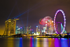 Singapore (Wang Guowen (gw.wang)) Tags: singapore firework 2013