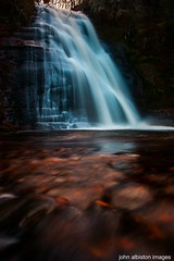 dualt spout (john&mairi) Tags: longexposure water scotland waterfall sandstone scottish falls burn waterfalls gorge spout cascade rockpool kilpatrick waterreflections kilpatrickhills scottishhills dualt yahoo:yourpictures=waterv2