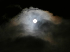 Aspen, Colorado Full Moon in the Clouds