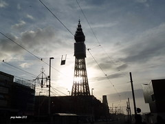 blackpool tower (percy beddoe) Tags: winter sky sun tower silhouette clouds greatshot blackpool photoenthusiast