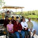 Connor Morrison, Frank Peck, Kathleen Peck, Jennie, Alec Morrison, Mary Jane Peck, Buddy, Astrid Morrison, Mike Morrison on air boat for Everglades tour January 9 2009