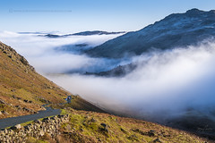 Wrynose pass, Lake District (John Finney) Tags: road winter mist mountains fog lakedistrict pass cumbria icy height wrynosepass heatinversion